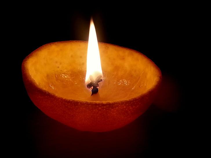 ตะเกียงน้ำมัน, ตะเกียงน้ำมันส้ม, แสงสว่าง, ตะเกียงน้ำมันเปลือกส้ม, ตะเกียงน้ำมันพืช, เทียนเปลือกส้ม, เปลวไฟ
