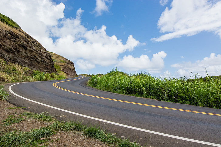 đường, bầu trời, Hill, đường cao tốc, nhựa đường, lái xe, tốc độ
