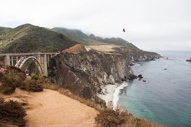 Bixby sild, Ocean, California, rannikul, Vaikse ookeani, maanteel, rannajoon