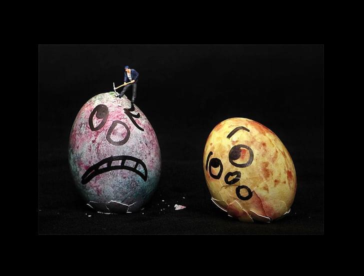 Velikonoční vejce, vajíčko, Velikonoce, malí lidé, malí lidé