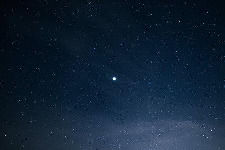 fosc, nit, cel, estrelles