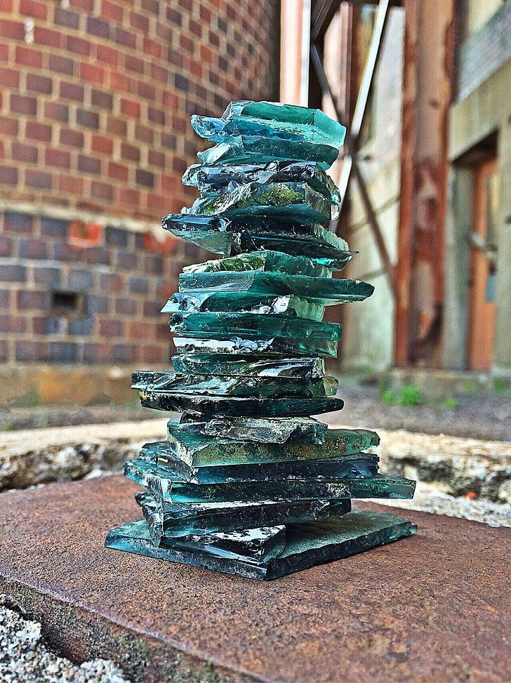verre, empilé, Zen, Balance, cassé