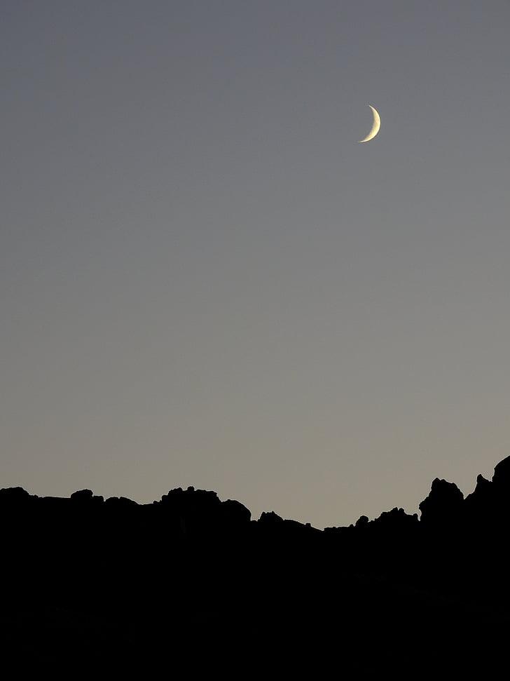 місяць, силует, атмосфера, ніч, Місячне сяйво, abendstimmung, вечір