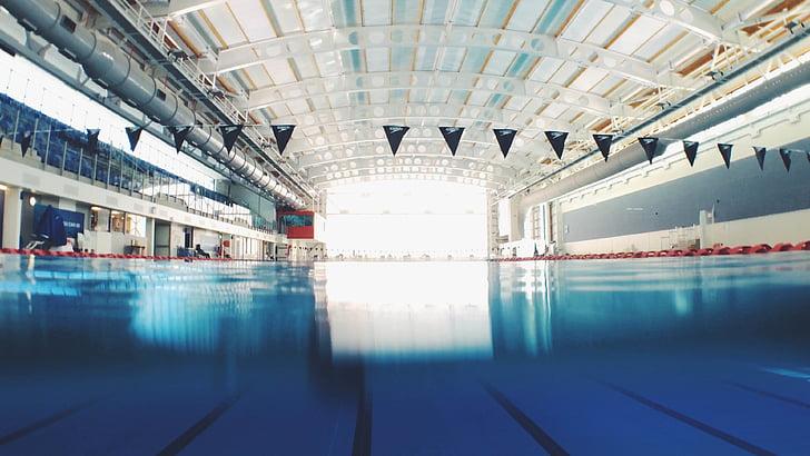 Hồ bơi ngoài trời., trong nhà, Hồ bơi, bơi ngoài trời, nước, kiến trúc