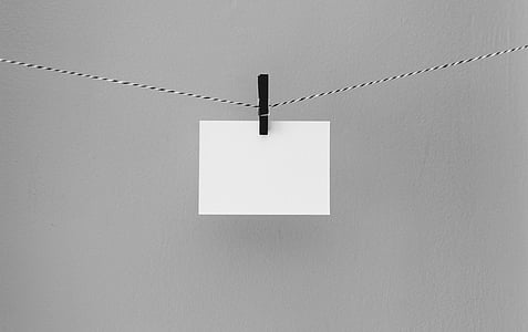 black, white, wall, paper, envelope, black and white, clip