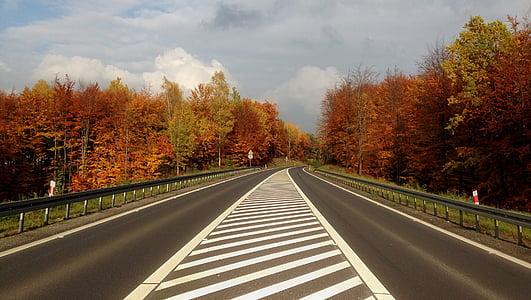 autumn, highway, poland, olkusz, autumn landscape, nature, scenically