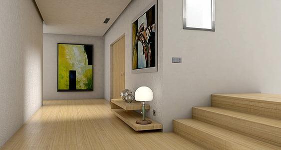 pis, colla, l'entrada, hall d'entrada, lichtraum, galeria, sala d'estar