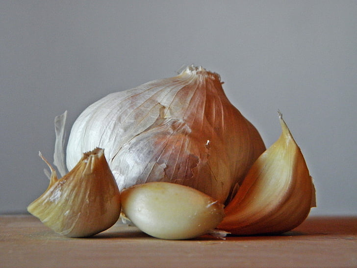 garlic, smell, aromatic, nature, garden, food, spice