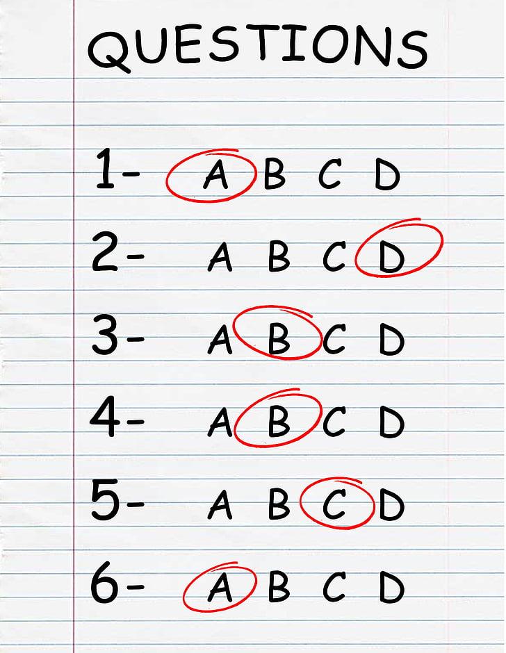 concurs, prova, examen, qüestionari, elecció múltiple, proves, Resposta