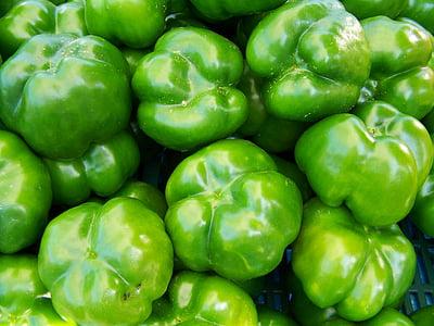 pimenta, verde, produtos hortícolas, comida, vegetal, frescura, orgânicos