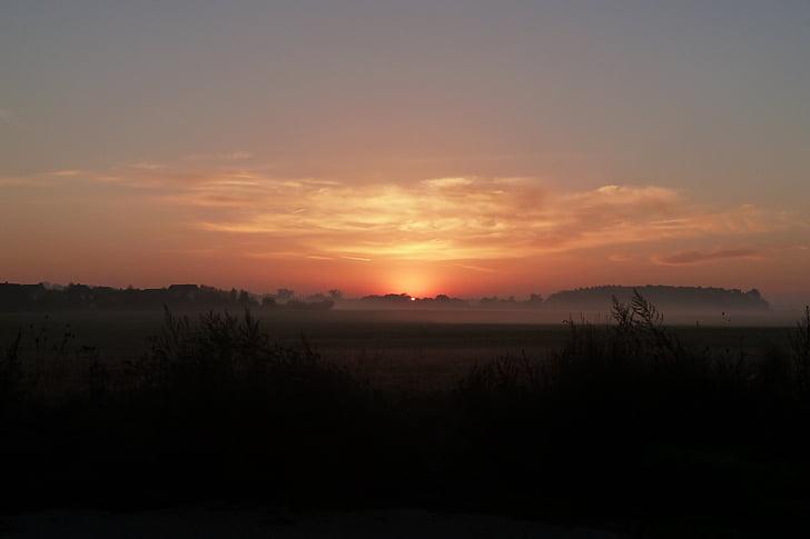 naturen, soluppgång, Tyskland, solnedgång, skymning, siluett, Sunrise - Dawn