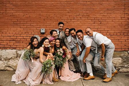 azijske, Poroka, stranka, ljudje, prijatelje, zabavno, skupaj