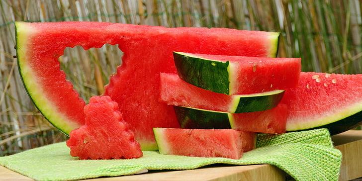 Melon, arbuus, puu, punane, tselluloosi, mahlane, kosutust