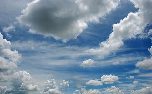 небе, фон, синьо небе облаци, небето облаци, облак, времето, околна среда