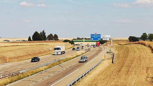 Jalan Raya, saluran komunikasi, Mobil, transportasi, Prancis, Yonne, jalan