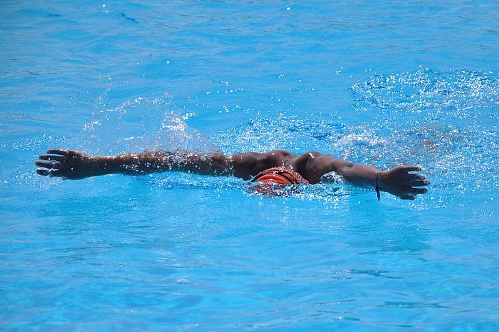 Natació, l'aigua, vaig nedar, nedar, competència, nedadors, esport