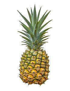abacaxi, frutas, fundo branco, comida, saudável, dieta, fresco