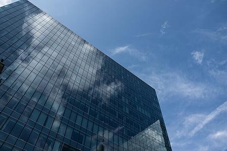 gratacels, edifici, arquitectura, ciutat, Oficina, edifici d'oficines, façana de vidre