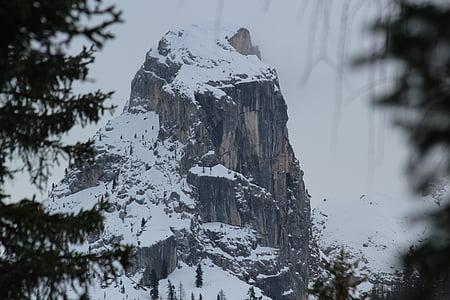 la boira, muntanya, neu, Innsbruck