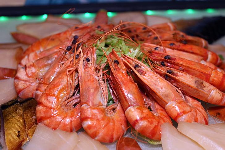 crevettes, démarreur, Scampi, alimentaire, fruits de mer, délicieux, manger