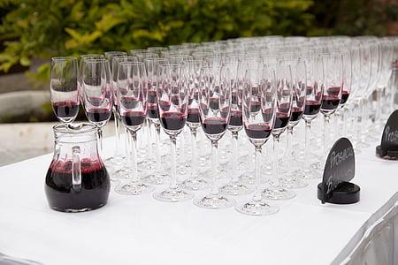 vidre, ulleres, celebrar, copes caves, xampany, beguda, Restaurant