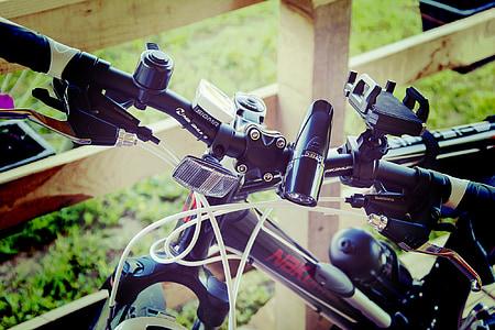 velosipēds, bremzes, velosipēdu, rats, Riteņbraukšana, kalns, melna