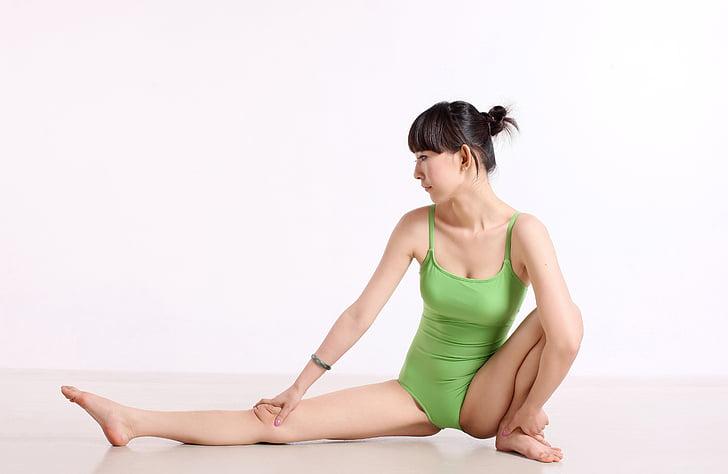 Cina, Yoga, danza, pesi, donna, postura, donne