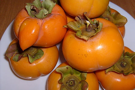 caquis, fruita, Sa, fresc, madures, natural, Orgànica
