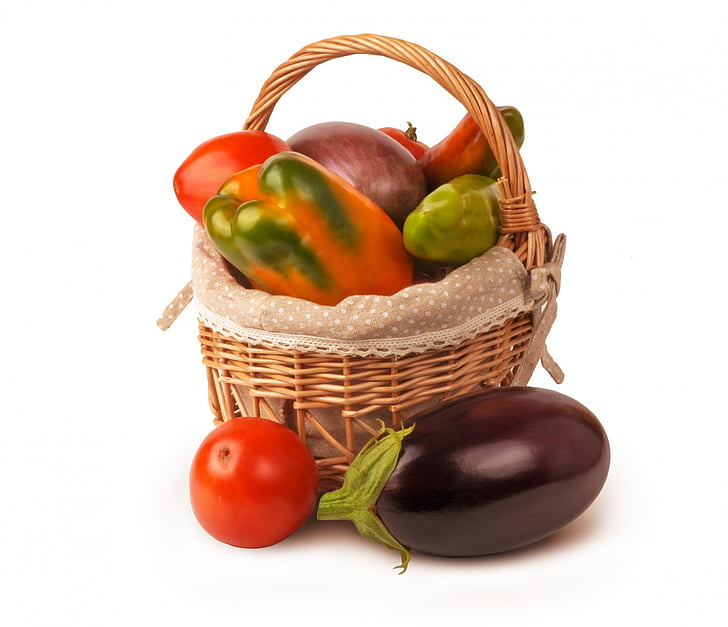 košara, hrana, prirodni, organsku hranu, papar, povrće, povrća