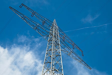 current, strommast, power line, electricity, energy, high voltage, pylon