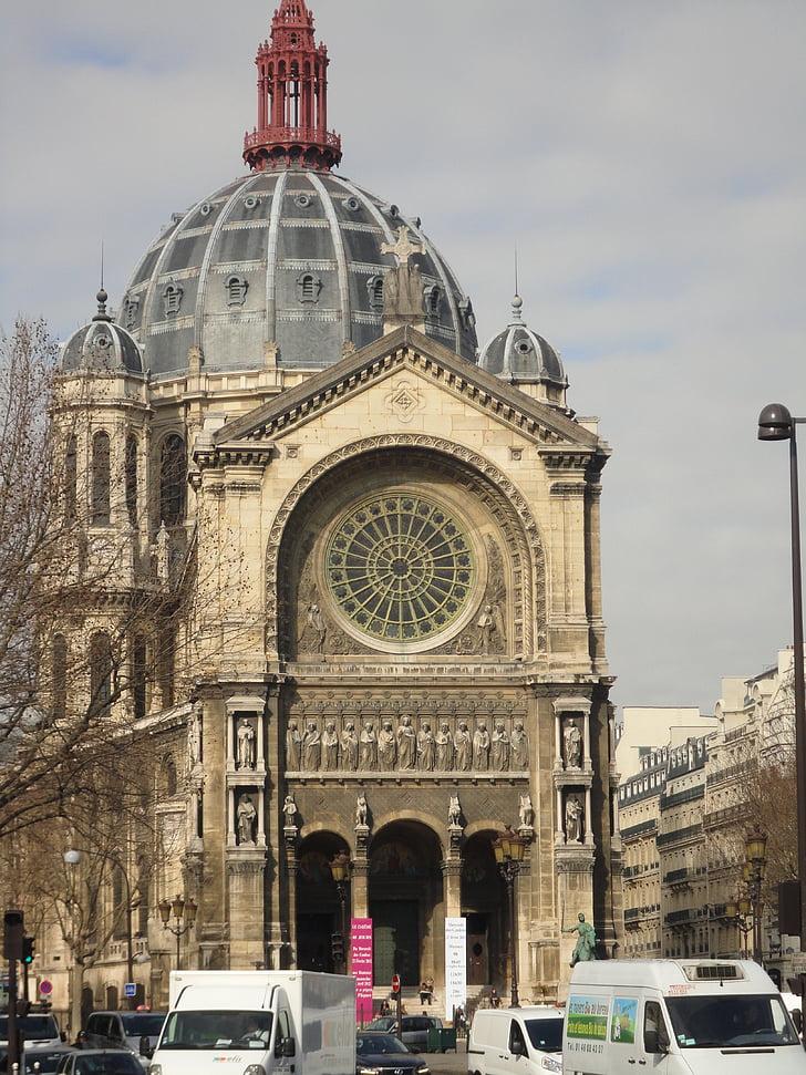 paris, church, france, dome of church, catholic church