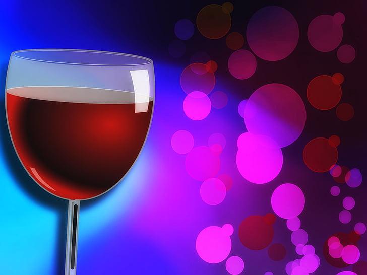 veini, klaas, punane, alkoholi, jook, vedelik, veini klaasi