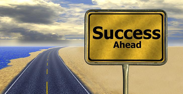 career, road, away, way of life, success, traffic sign, rise