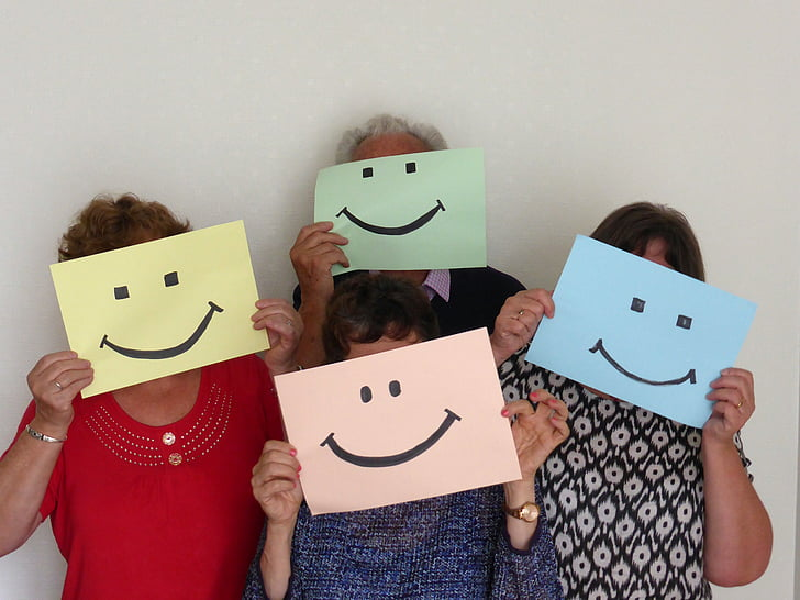 optimism, smile, group, welcome, mask, collusion, agreement