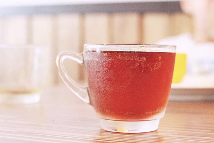 gėrimas, juodoji arbata, stiklo
