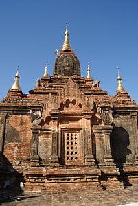 templet, Bagan, Myanmar, Asia, resor, religion, antika