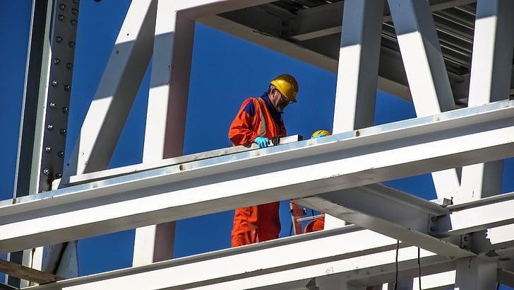 worker, helmet, uniform, safety, development, engineering, hardhat