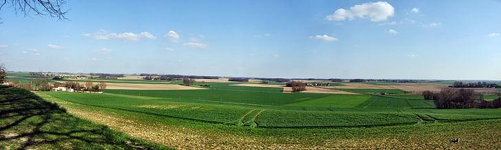 calma, xampany, plana, paisatge