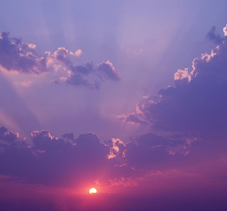 intryck sunrise, ljus, Sky