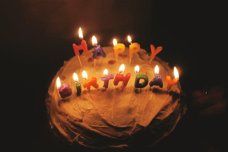 birthday, birthday cake, cake, candles, birthday party, celebration, wish