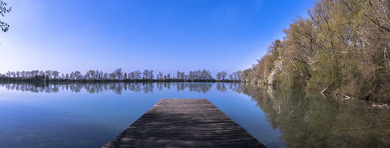 Πανόραμα, Λίμνη, νερό, Web, δέντρα, Τράπεζα, φύση