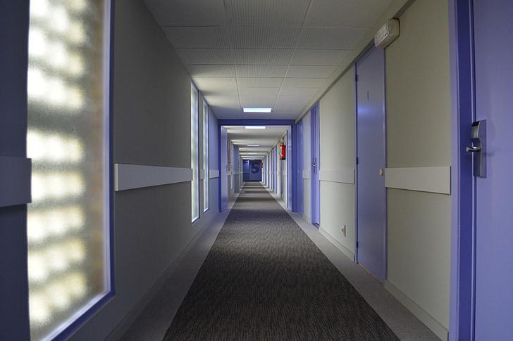 Hotel, bande, perspektiv, midtergangen, ostendstars hotel, korridor, indendørs