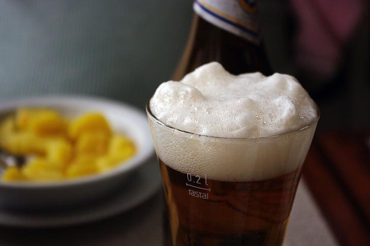 drikke, øl, ølskum, skum, hvit, Serenity, resten
