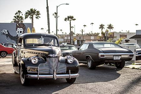 vintage, chevrolet, ocean, classic, car, vintage car, transportation