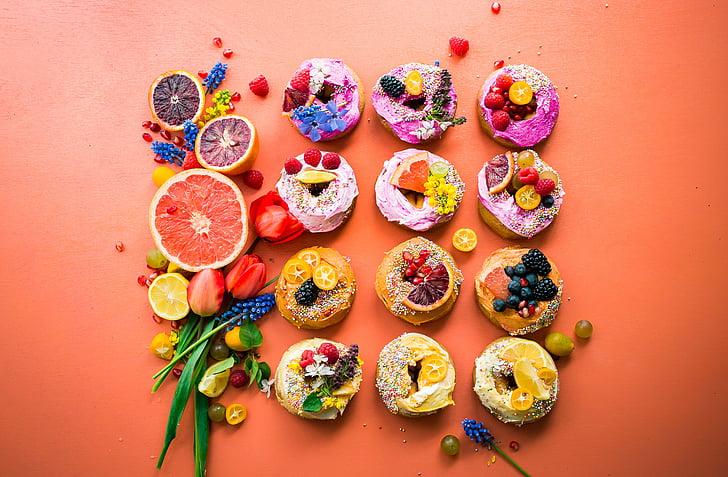 Cupcake, десерти, бонбони, храна, плодове, цвете, десерт