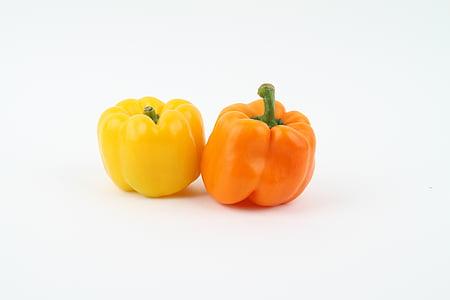 paprika, köögiviljad, taimne, terve, taimetoitlane, värske, koostisosa