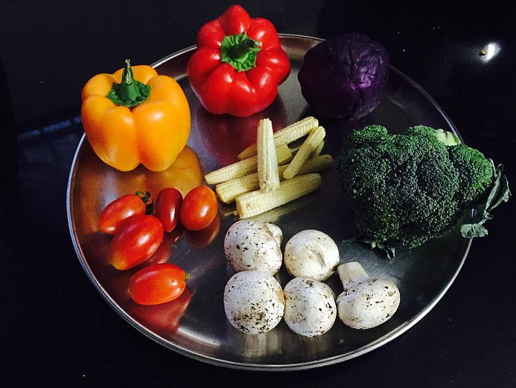 groenten, kleuren, voedsel, kleurrijke, Vegetarisch