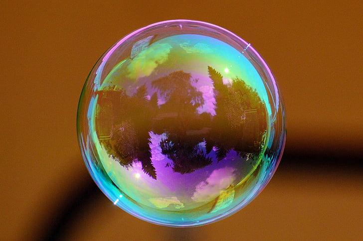 bombolla de sabó, colors, pilota, aigua i sabó, fer bombolles de sabó, carrossa, reflectint