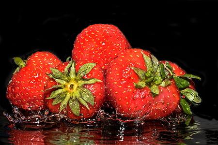 maduixes, fruita, fruites, dolç, deliciós, aliments, descarat bergant