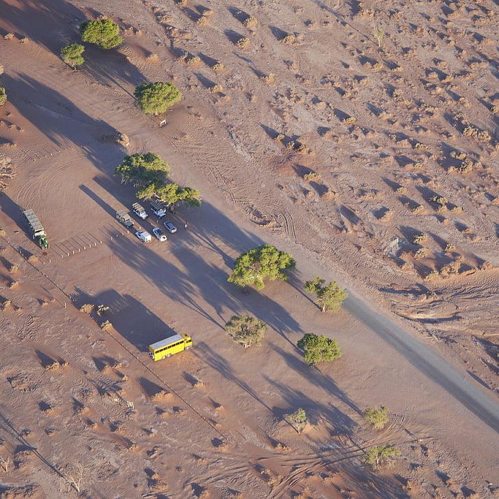 namibia, dune, desert, africa, sand dune, sossusvlei, aerial View